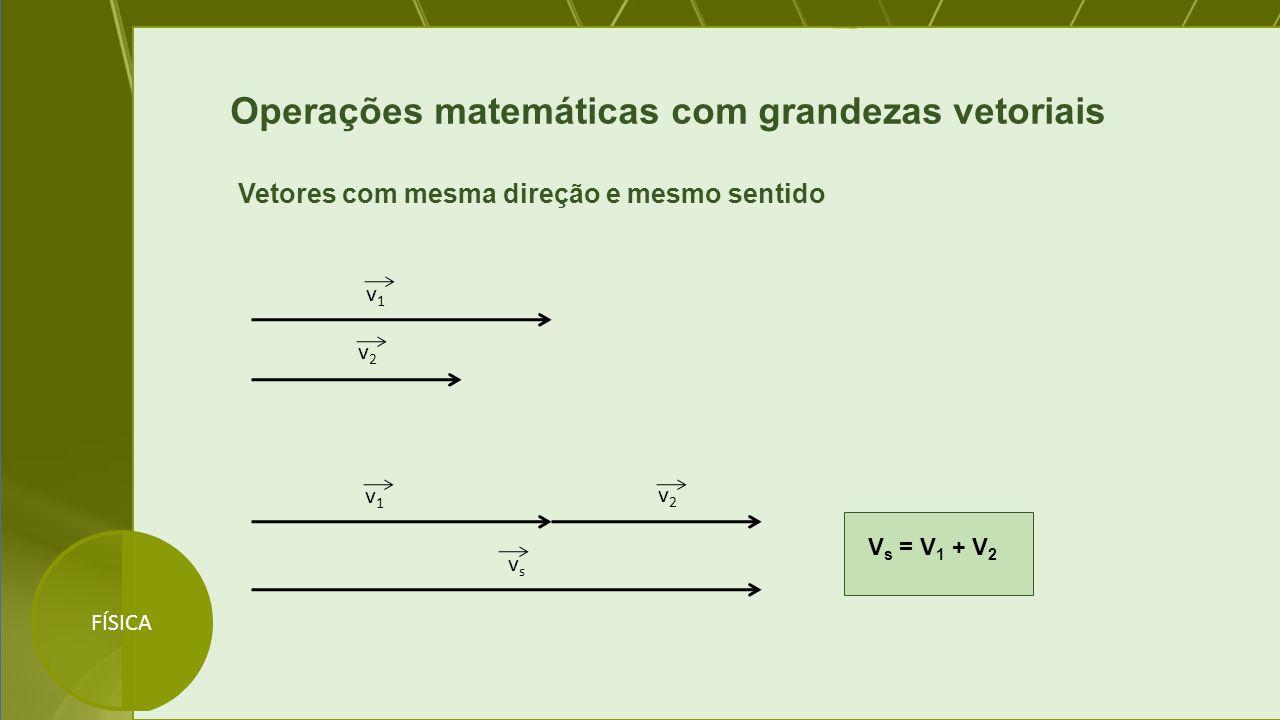 Operações matemáticas com grandezas vetoriais