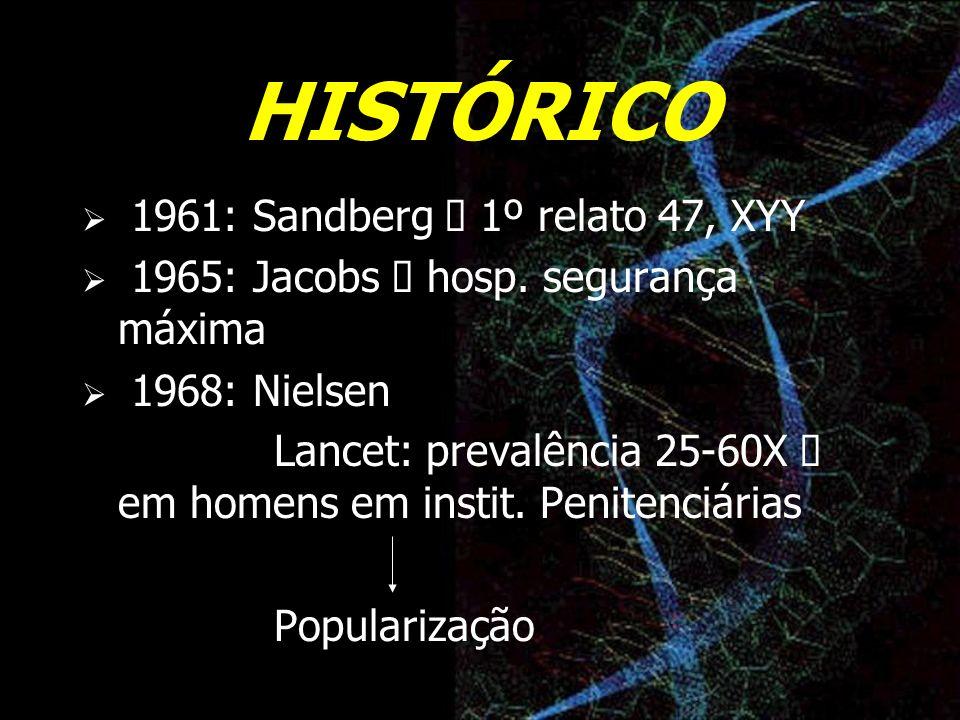 HISTÓRICO 1961: Sandberg à 1º relato 47, XYY