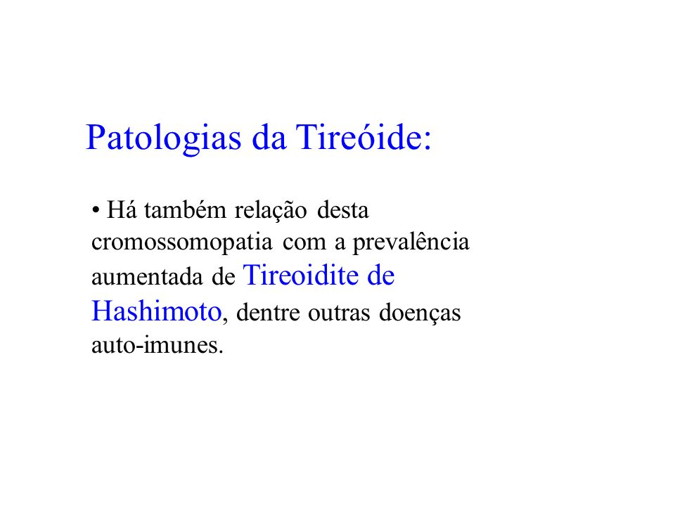 Patologias da Tireóide: