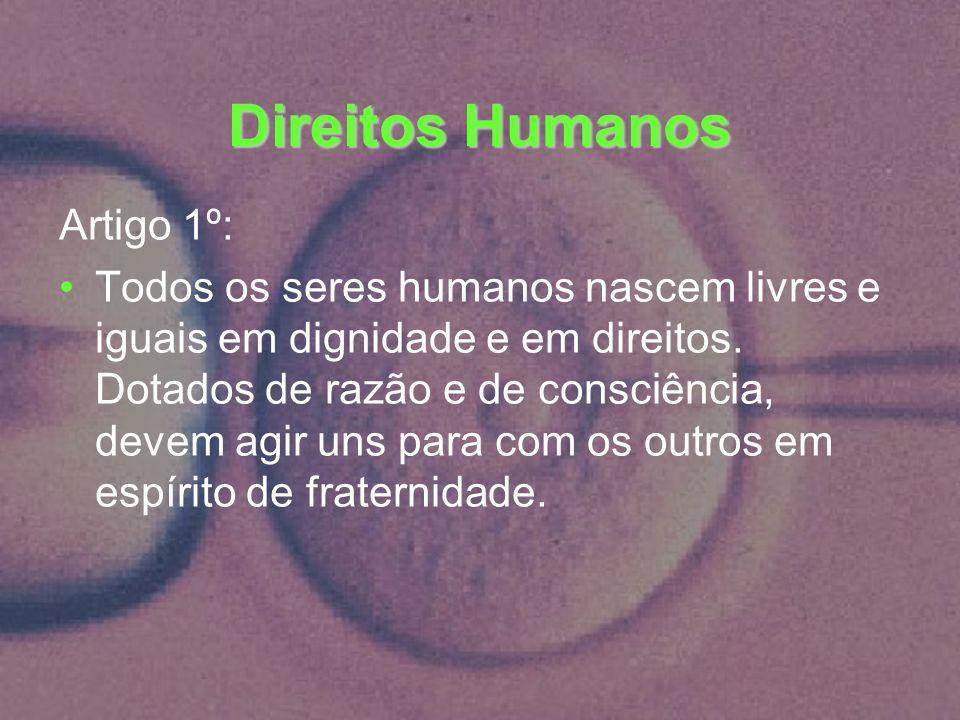 Direitos Humanos Artigo 1º: