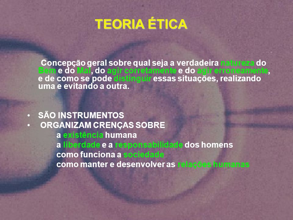 TEORIA ÉTICA