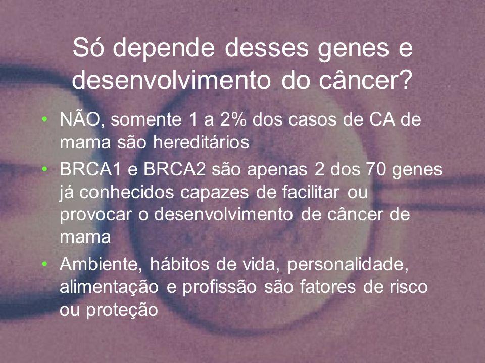 Só depende desses genes e desenvolvimento do câncer