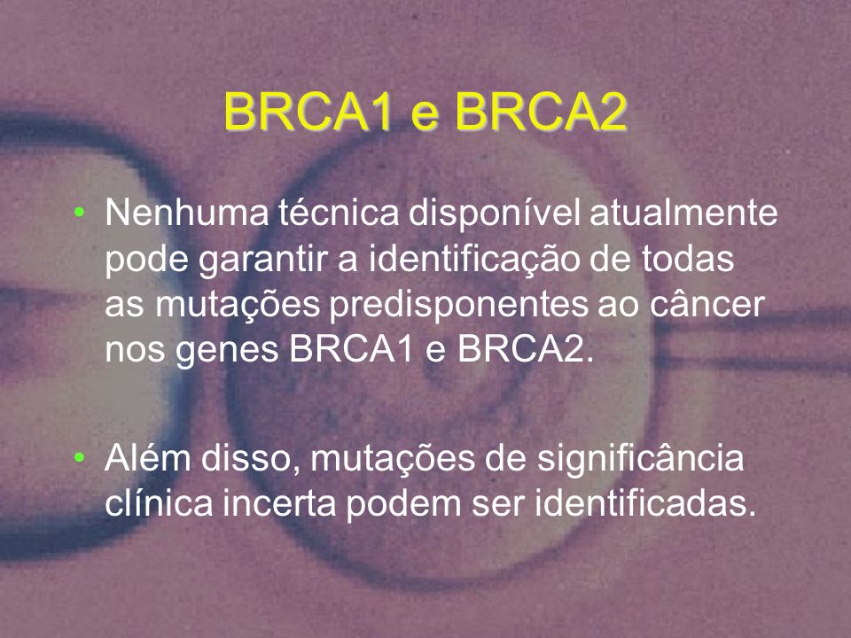 BRCA1 e BRCA2