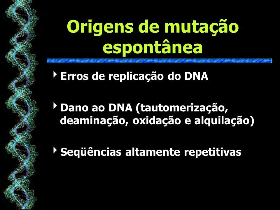 Origens de mutação espontânea