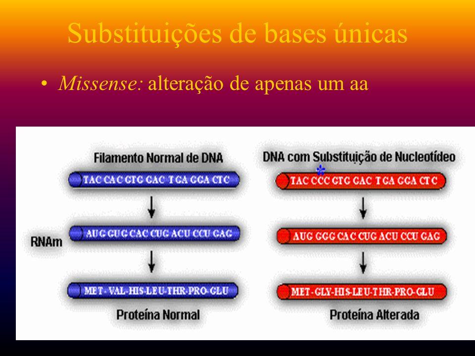 Substituições de bases únicas