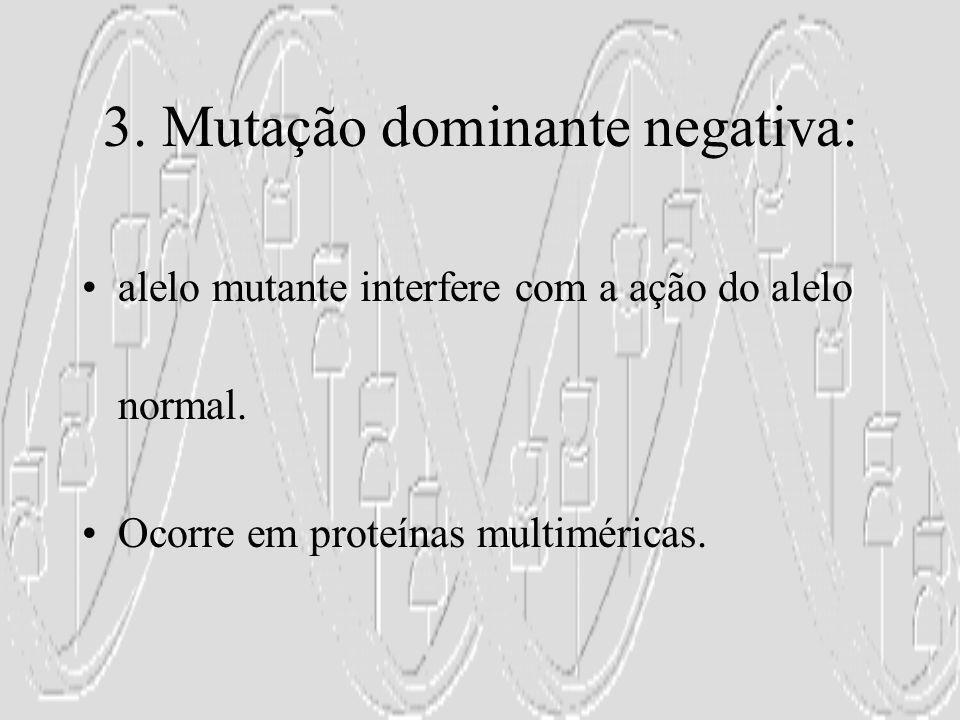 3. Mutação dominante negativa: