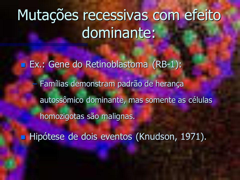 Mutações recessivas com efeito dominante: