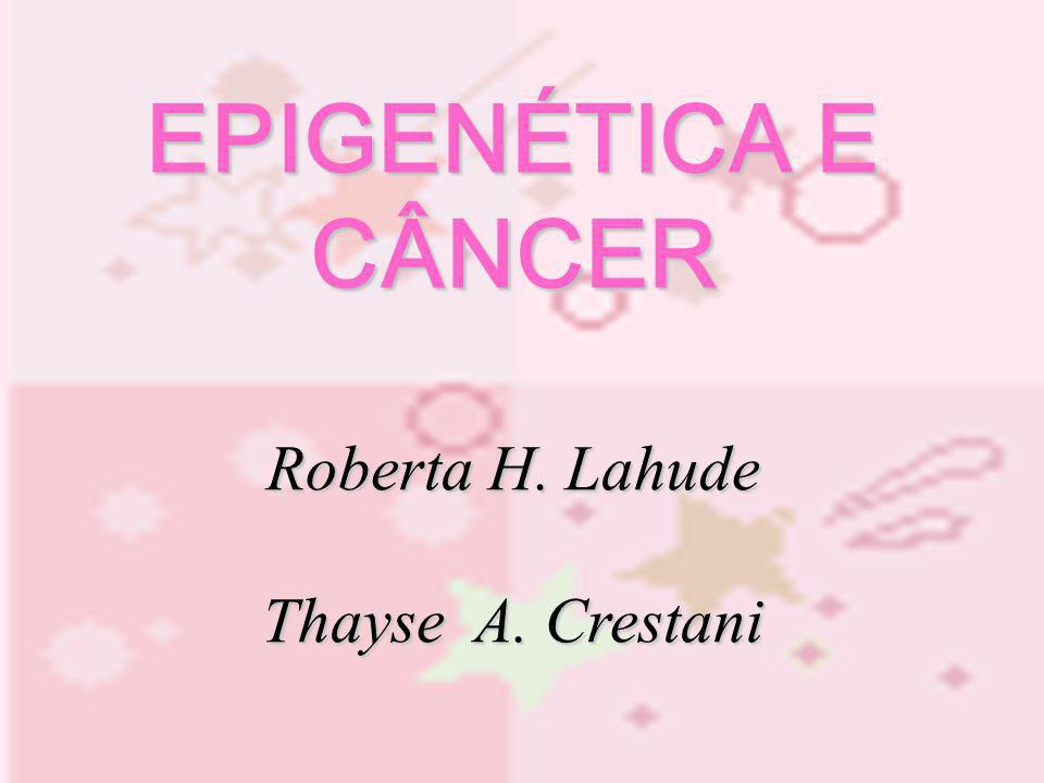 EPIGENÉTICA E CÂNCER Roberta H. Lahude Thayse A. Crestani