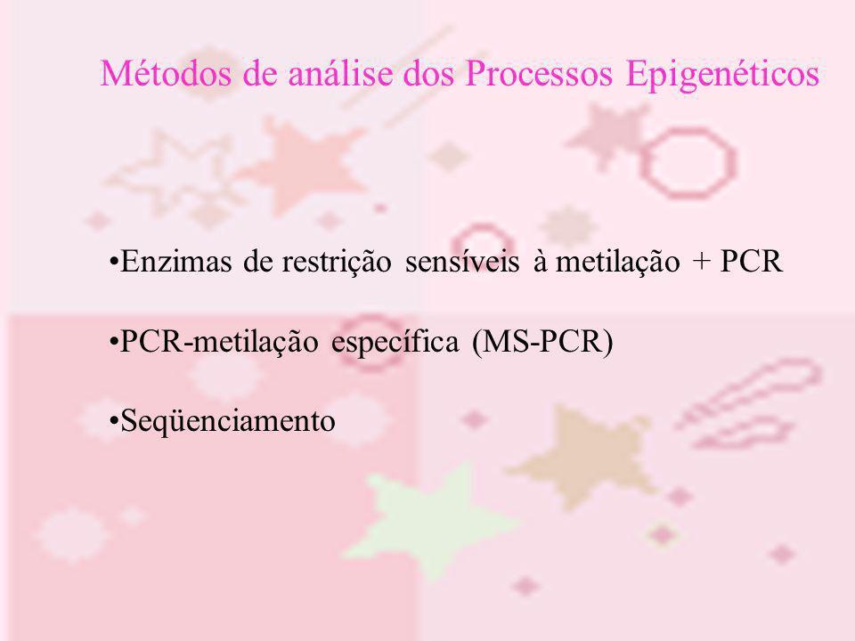 Métodos de análise dos Processos Epigenéticos