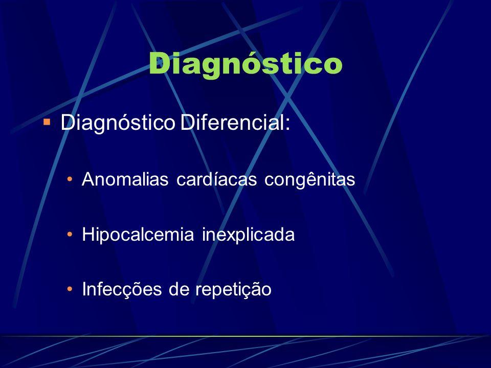 Diagnóstico Diagnóstico Diferencial: Anomalias cardíacas congênitas
