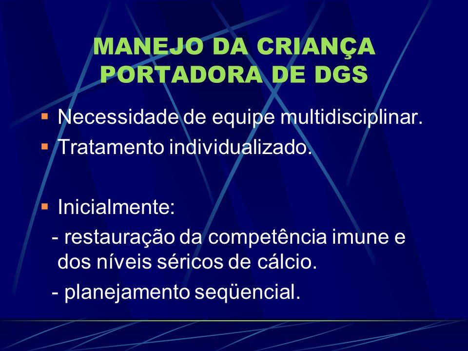 MANEJO DA CRIANÇA PORTADORA DE DGS
