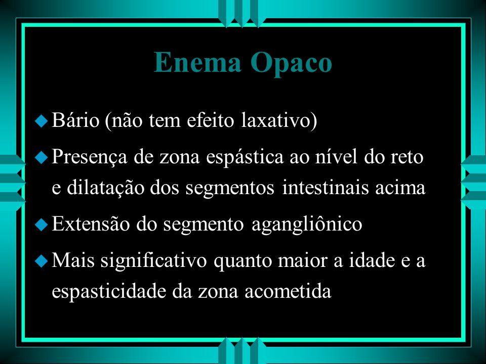 Enema Opaco Bário (não tem efeito laxativo)