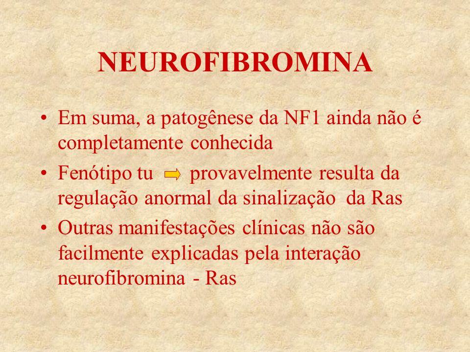 NEUROFIBROMINA Em suma, a patogênese da NF1 ainda não é completamente conhecida.