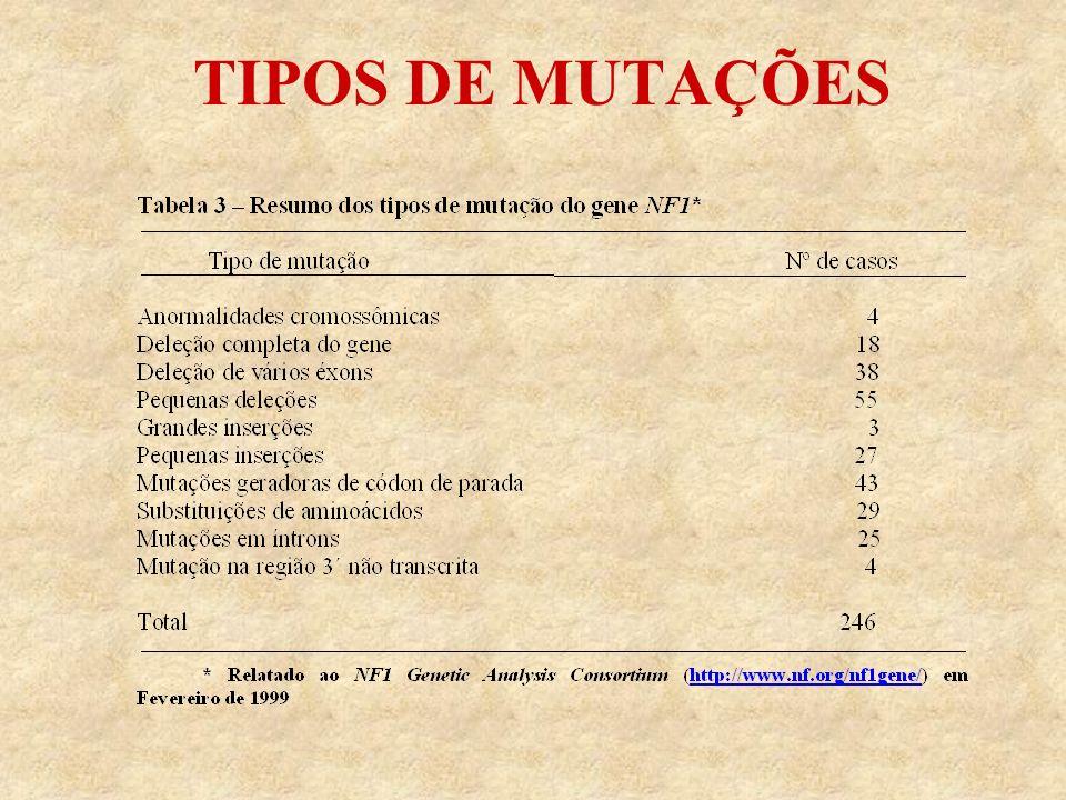 TIPOS DE MUTAÇÕES