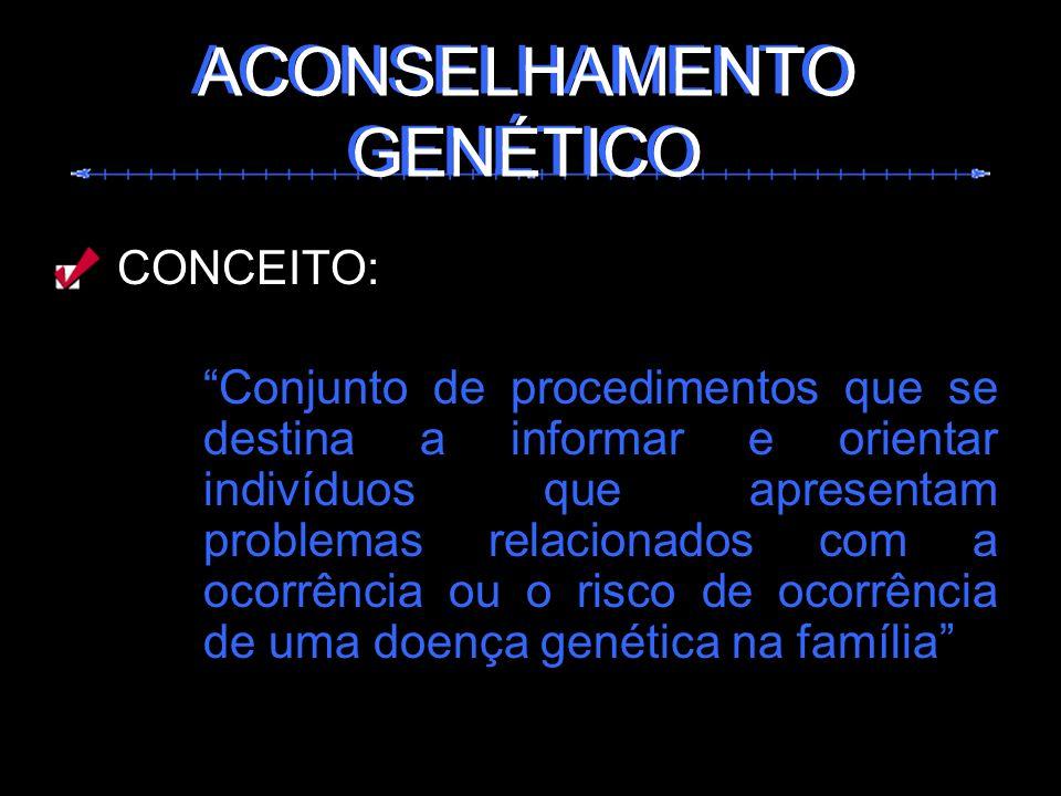 ACONSELHAMENTO GENÉTICO ACONSELHAMENTO GENÉTICO