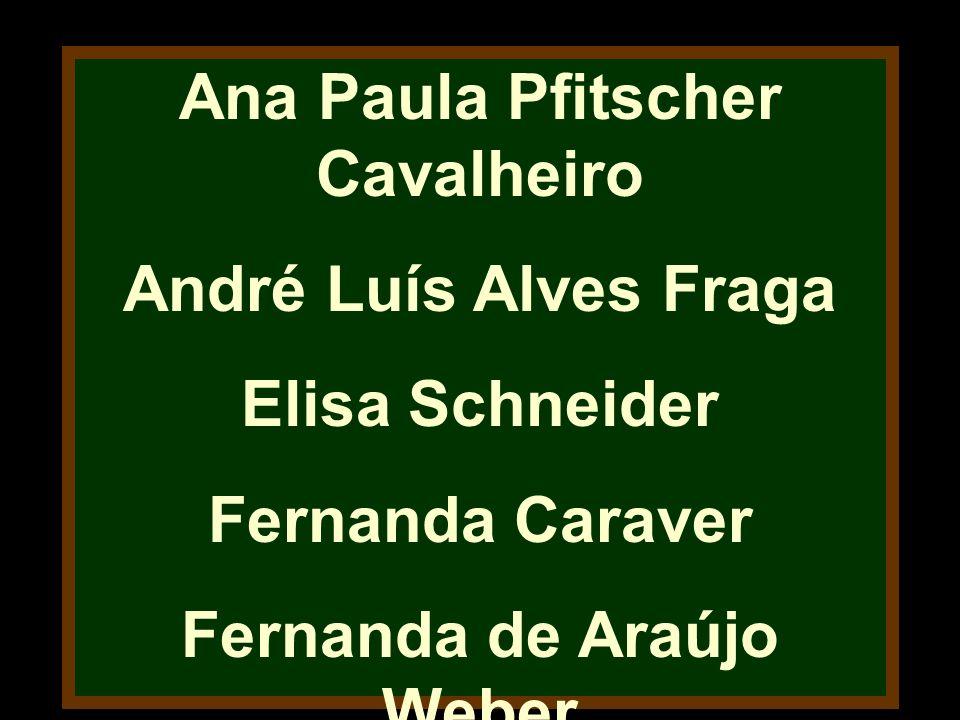 Ana Paula Pfitscher Cavalheiro Fernanda de Araújo Weber
