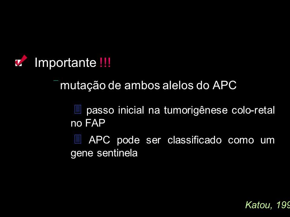 Importante !!!  passo inicial na tumorigênese colo-retal no FAP