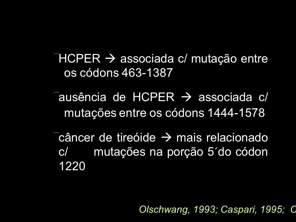  HCPER  associada c/ mutação entre os códons 463-1387