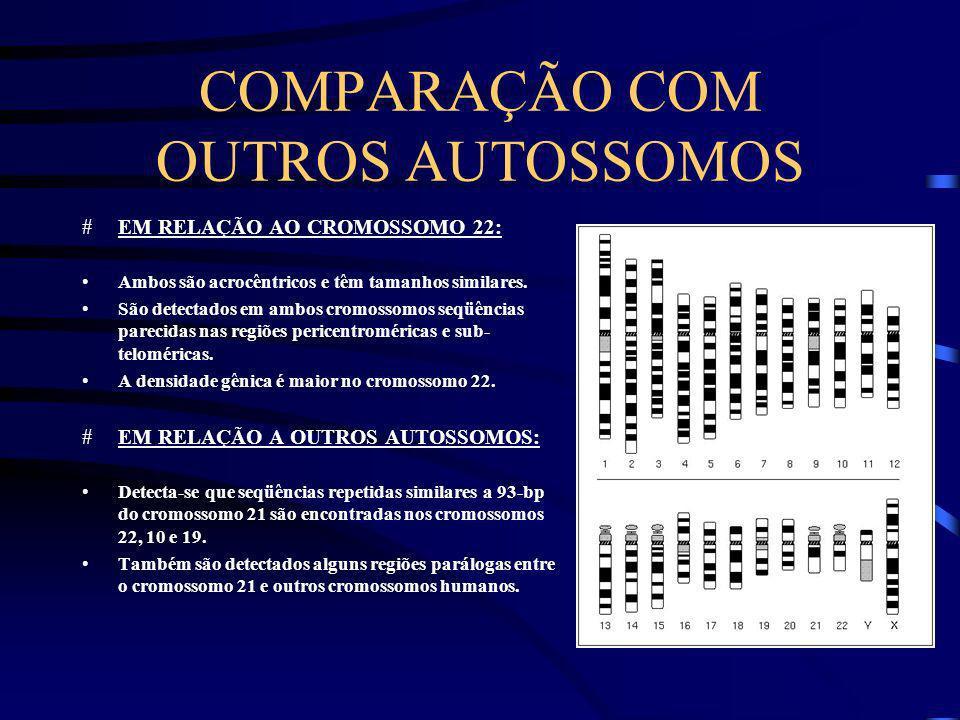 COMPARAÇÃO COM OUTROS AUTOSSOMOS