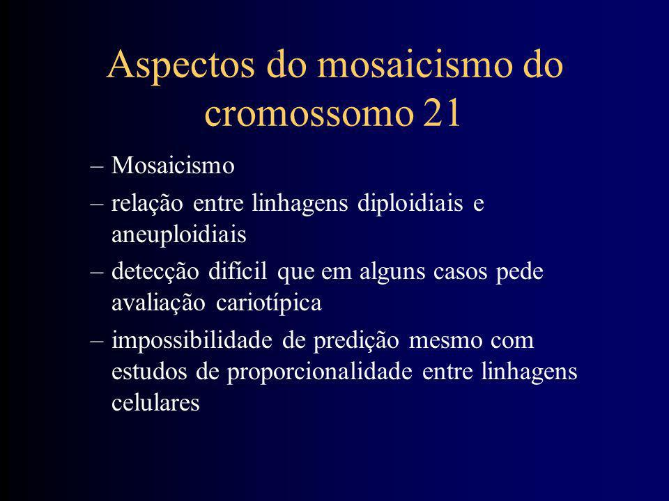 Aspectos do mosaicismo do cromossomo 21