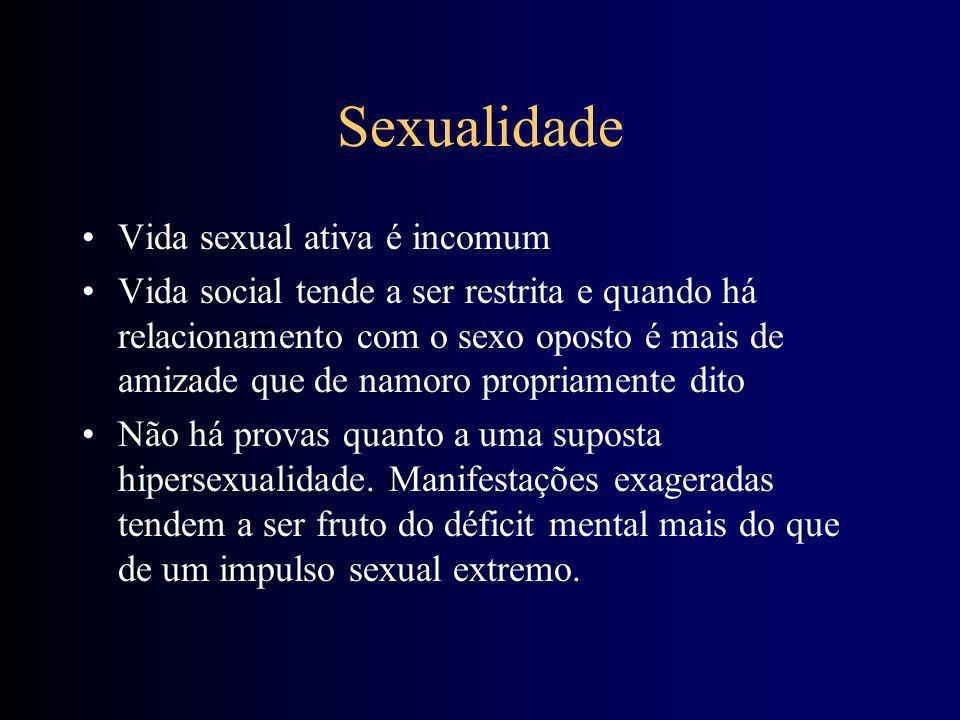 Sexualidade Vida sexual ativa é incomum