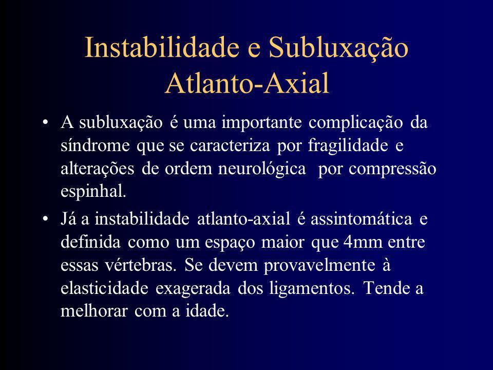 Instabilidade e Subluxação Atlanto-Axial