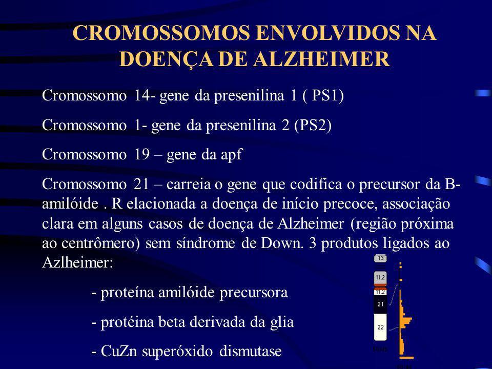 CROMOSSOMOS ENVOLVIDOS NA DOENÇA DE ALZHEIMER