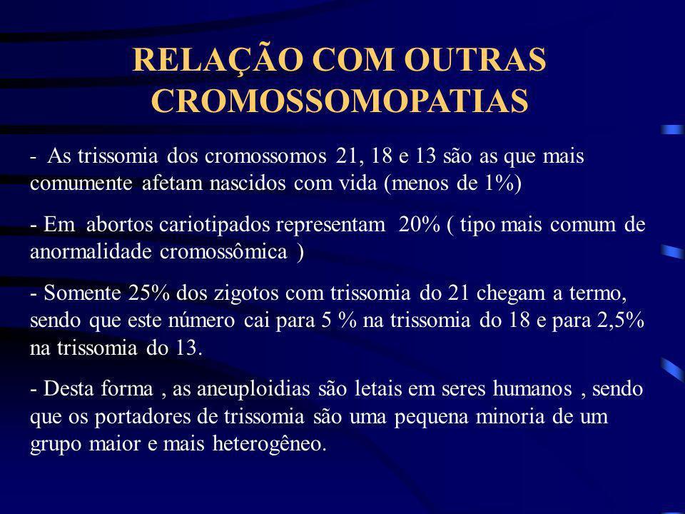 RELAÇÃO COM OUTRAS CROMOSSOMOPATIAS