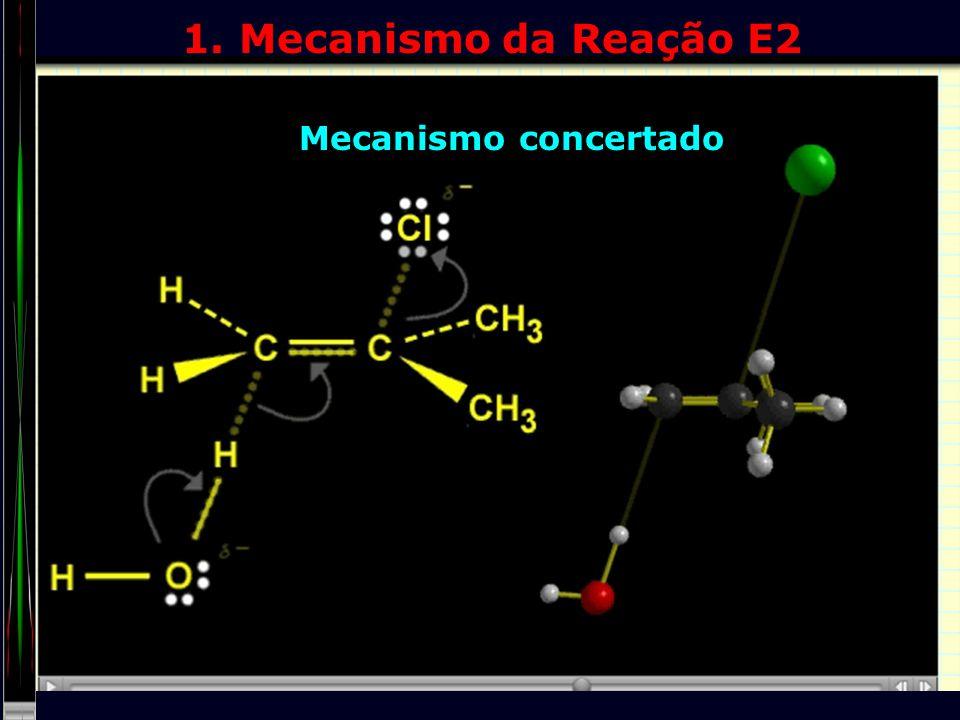 1. Mecanismo da Reação E2 Mecanismo concertado