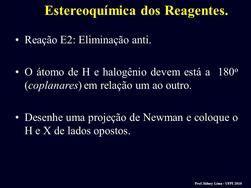 Estereoquímica dos Reagentes.