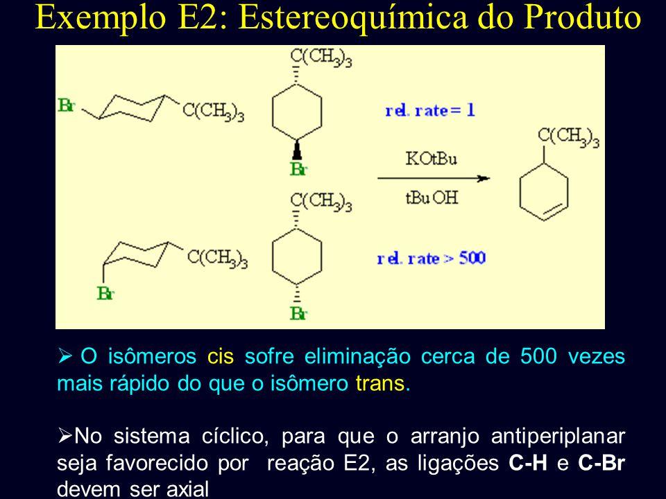 Exemplo E2: Estereoquímica do Produto
