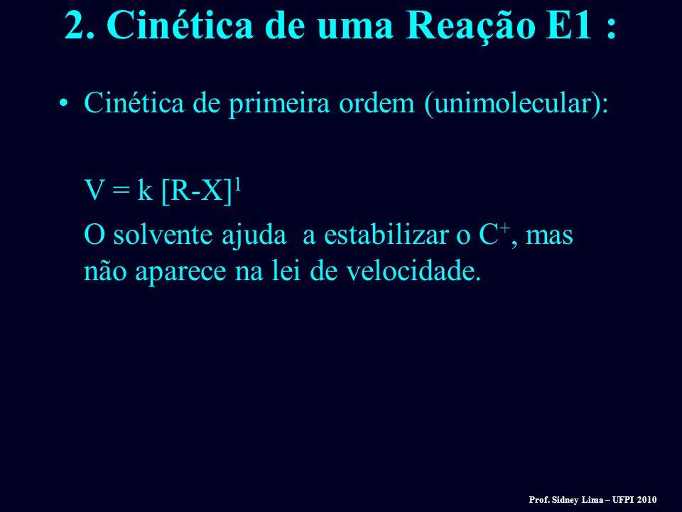 2. Cinética de uma Reação E1 :