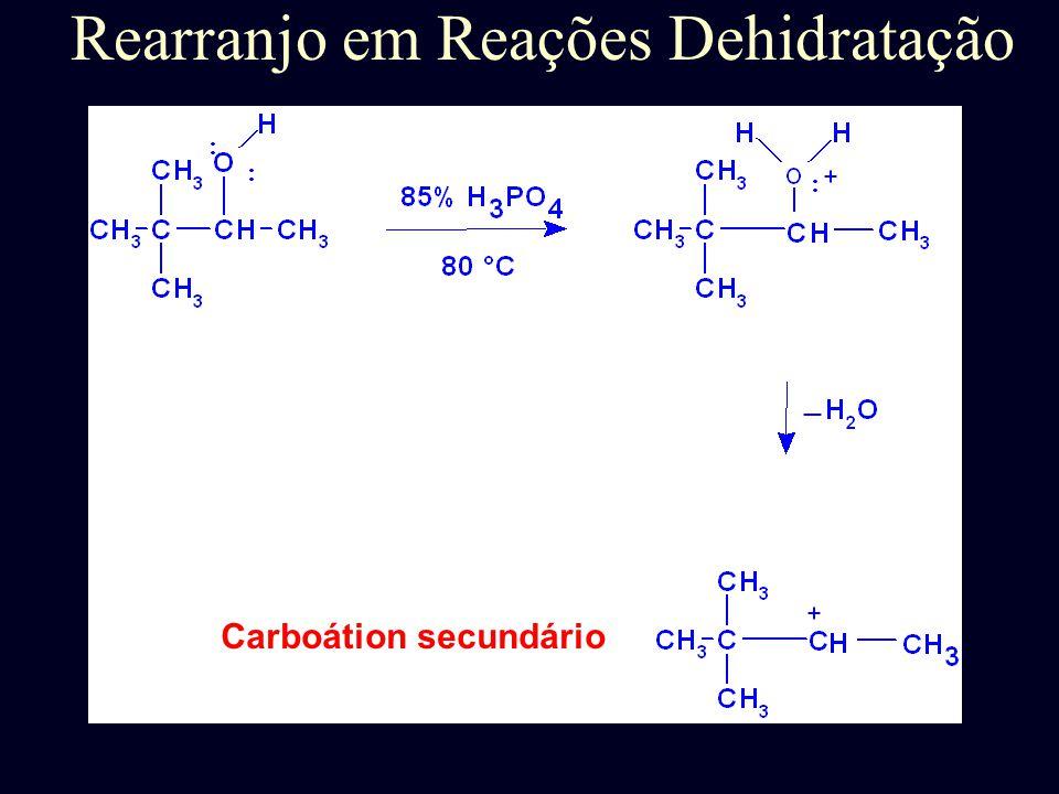 Rearranjo em Reações Dehidratação