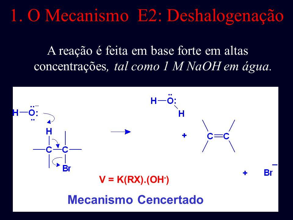 1. O Mecanismo E2: Deshalogenação
