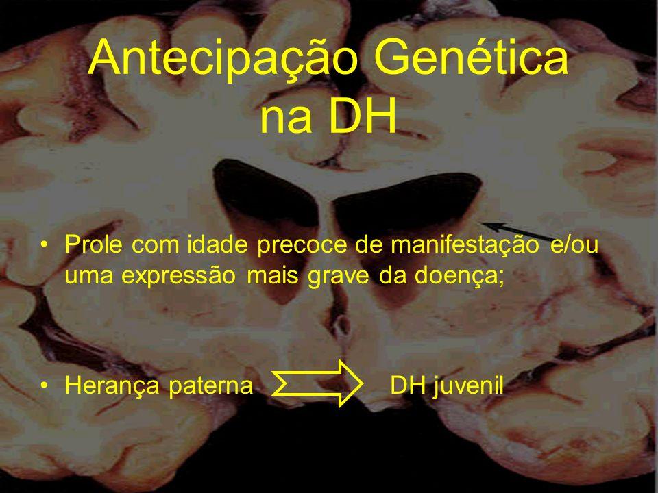 Antecipação Genética na DH