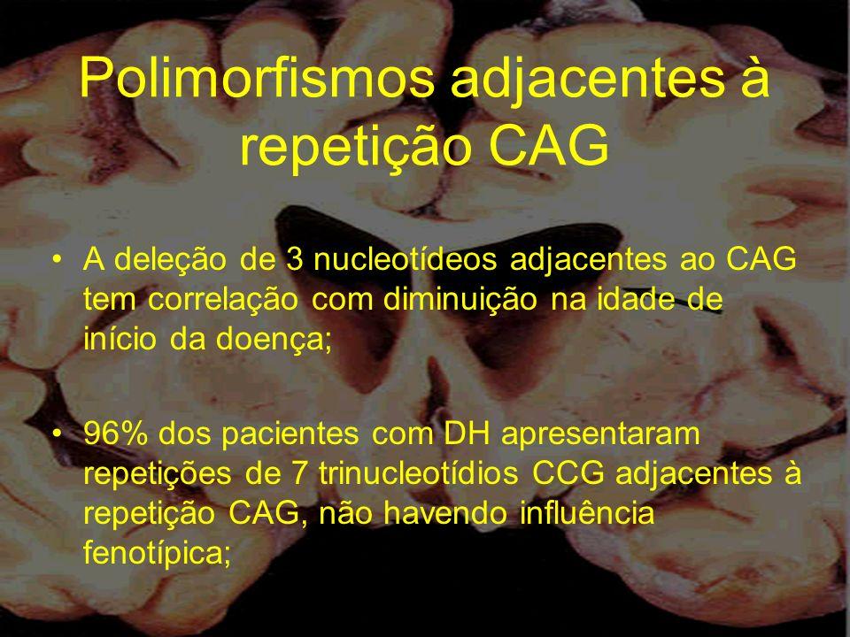 Polimorfismos adjacentes à repetição CAG