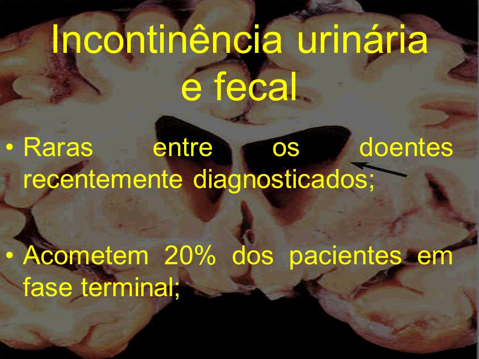 Incontinência urinária e fecal