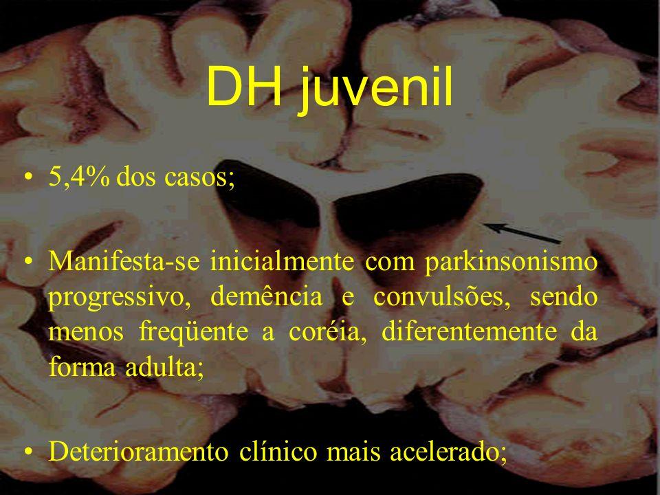 DH juvenil 5,4% dos casos;