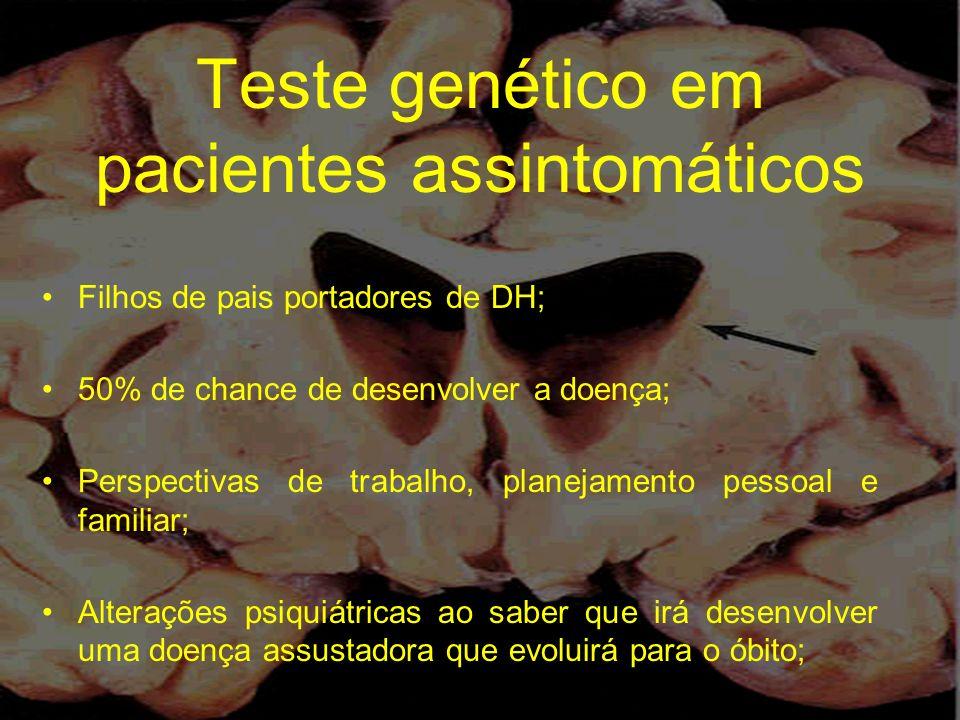 Teste genético em pacientes assintomáticos