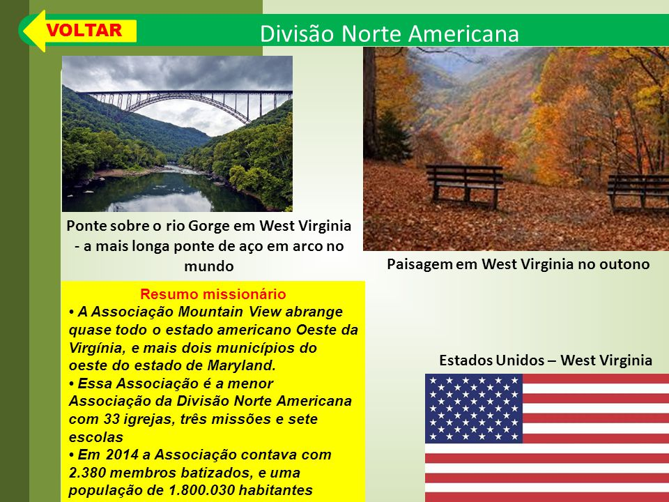 Paisagem em West Virginia no outono Estados Unidos – West Virginia