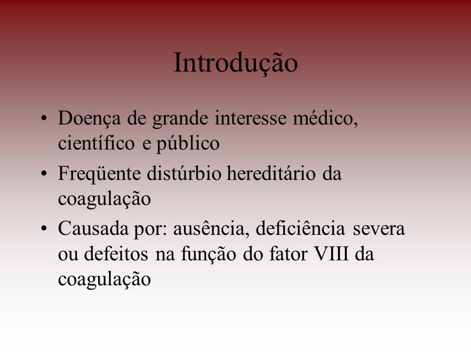 Introdução Doença de grande interesse médico, científico e público