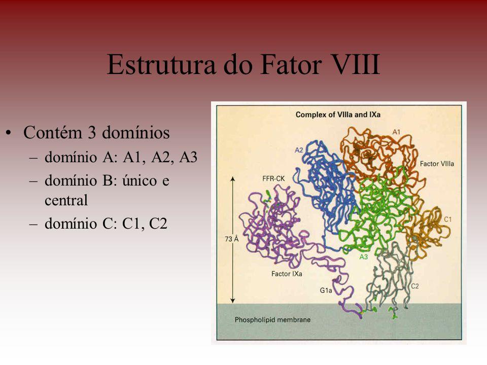Estrutura do Fator VIII