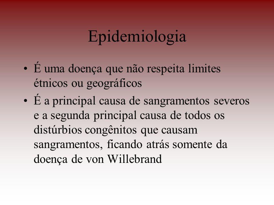 Epidemiologia É uma doença que não respeita limites étnicos ou geográficos.