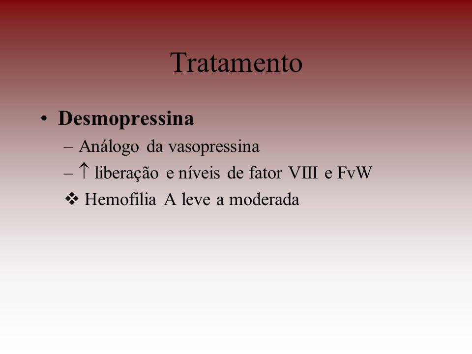 Tratamento Desmopressina Análogo da vasopressina
