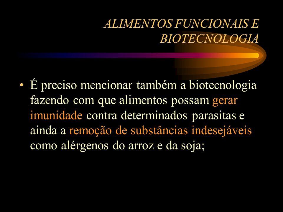 ALIMENTOS FUNCIONAIS E BIOTECNOLOGIA