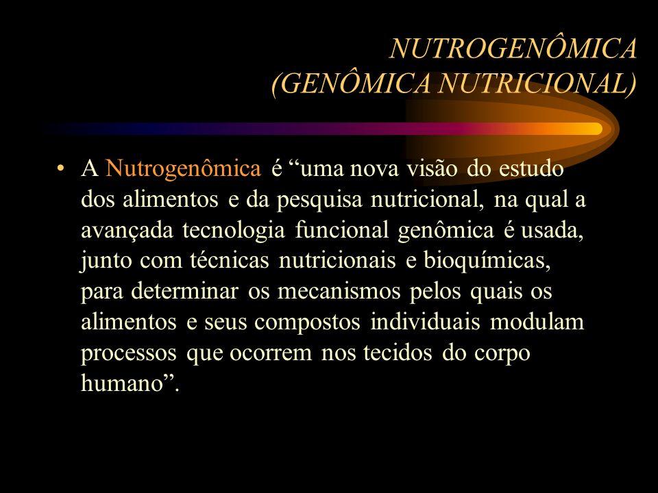NUTROGENÔMICA (GENÔMICA NUTRICIONAL)