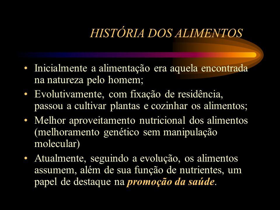 HISTÓRIA DOS ALIMENTOS