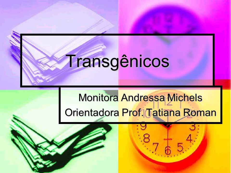 Monitora Andressa Michels Orientadora Prof. Tatiana Roman