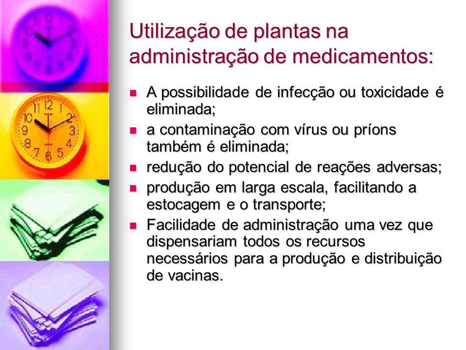 Utilização de plantas na administração de medicamentos: