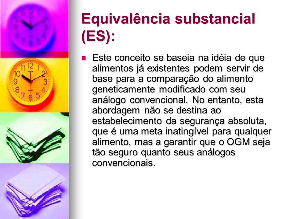 Equivalência substancial (ES):